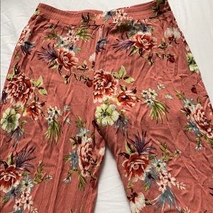 F21 Flared Floral Pants